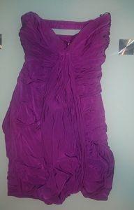 Bebe Dragon Purple Bodycon Dress Sz M